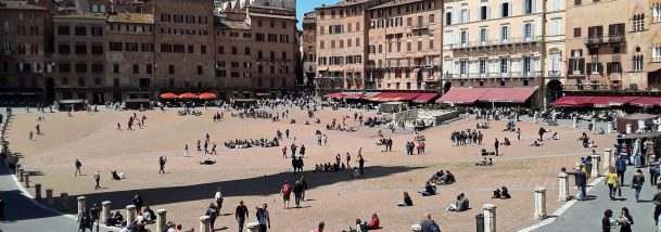 palio square in siena italy twice a year