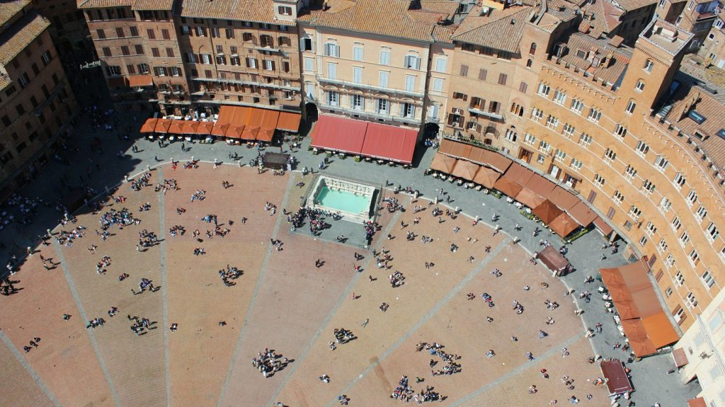 palio square in siena italy